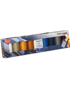 Gutermann Naaigarenset Denim 8 st. + naalden